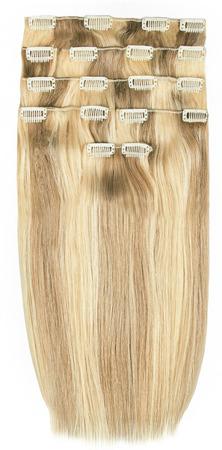 Ľudské vlasy clip-in 613,8 Baleyage jasný koňakový blond