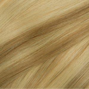 Ľudské vlasy clip-in Baleyage jasný koňakový blond 613,8