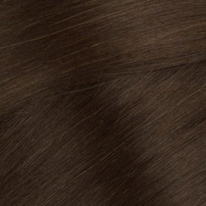 Ľudské vlasy clip-in Hnedé
