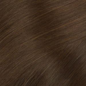 Ľudské vlasy clip-in Koňakové