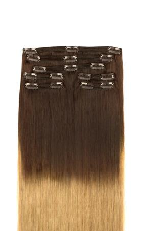 vlasy clip-in Ombre koňakovo jasný blond T4 ,22