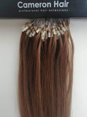 Ľudské vlasy Micro Ringy Koňakové
