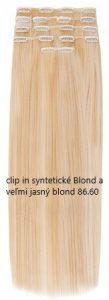 clip in 86.60 syntetické Blond a veľmi jasný blond