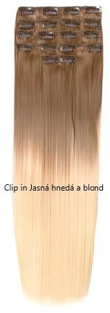 clip-in syntetické Jasná hnedá a blond T12.613
