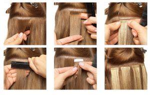 Tape in vlasy ľudské ako zakladať.