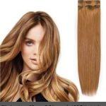 Clip in vlasy-60 cm, 8 Pásmové, 130G Ľudské vlasy 89,00€