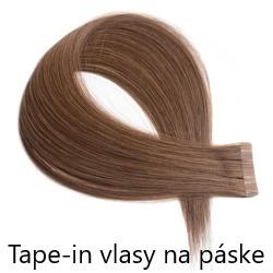 Tape-in vlasy na páske