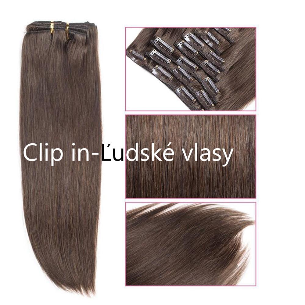 Clip in-Ľudské vlasy