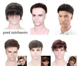 Pánske parochne. Ľudské vlasy. Mono systém