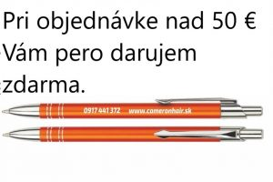 Pri objednávke nad 50 € Vám pero darujem zdarma.