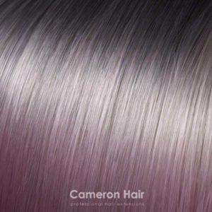 Parochňa polovičná – kučeravé vlasy.T6 / 2333 Ombre Horká čokoláda ,svetloružová