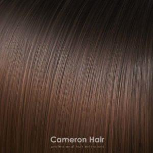 Parochňa polovičná – kučeravé vlasy.T6 / 30 Ombre Horká čokoláda - Teplá hnedá