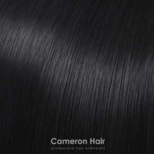 Parochňa polovičná - kučeravé vlasy Čierna 1