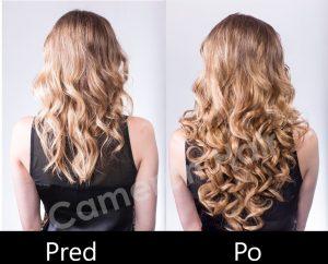 Parochňa polovičná - kučeravé vlasy, odolná voči teplotám .Aplikacia (1)