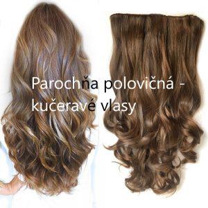 Parochňa polovičná - kučeravé vlasy, odolná voči teplotám do 180 ° C