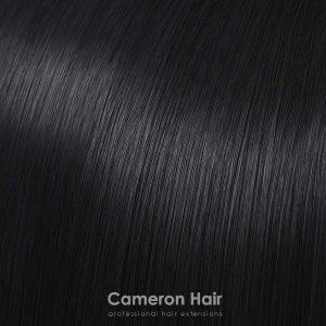 Vrkoče syntetické vlasy 53 cm. čierna