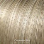 Vrkoč na štipcoch 35 cm. 24/613 Stredny blond s platinovou blond