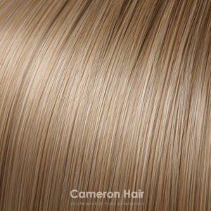 Vrkoč na štipcoch 35 cm. 26/18/27 stredne blond s teplými tónmi