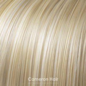 Vrkoč na štipcoch 35 cm. 86/60 Teply blond s bielym blond