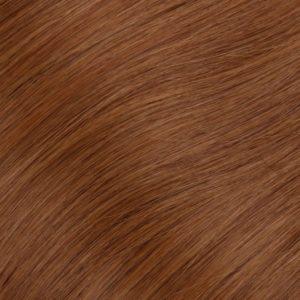 60 cm Ľudské vlasy Micro Ring Červené