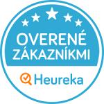 Modrý certifikát Heureka Overené zákazníkmi.
