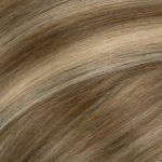 Vrkoč Ľudské vlasy. Dĺžka 50 cm Váha 80 g .6134 LATTE