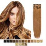 Clip in vlasy-60 cm, 5 Pásmové, 65G Ľudské vlasy