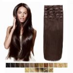 Clip in vlasy-60 cm, 8 Pásmové, 130G Ľudské vlasy