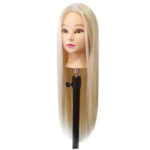 Cvičná hlava so syntetickými vlasmi 70 cm