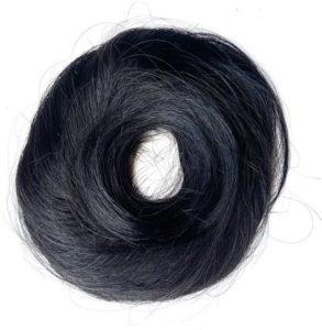 Príčesok – drdol na gumičke, Ľudské vlasy čierne