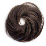 Príčesok – drdol na gumičke, Ľudské vlasy hnede