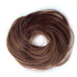 Príčesok – drdol na gumičke, Ľudské vlasy koňakové