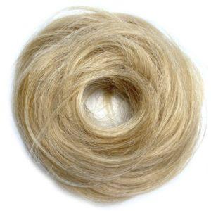 Príčesok – drdol na gumičke, Ľudské vlasy prírodniny blond