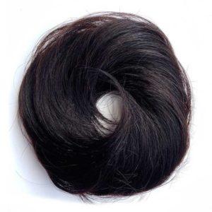Príčesok – drdol na gumičke, Ľudské vlasy tmavo hnedé