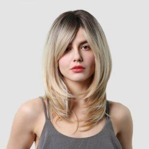 Parochňa model Syntetické vlasy -BLOND LHY242A
