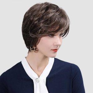 Parochne z pravých ľudských vlasov PRÍRODNÁ HNEDÁ RS042-7