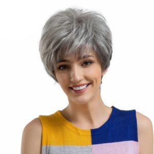 Parochne z pravých ľudských vlasov PRÍRODNÁ SIVÁ FARBA WM3035