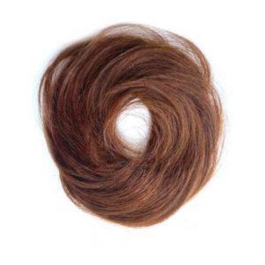 Príčesok – drdol na gumičke, Ľudské vlasy svetlo hnedé 8
