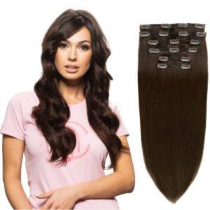 53CM100% Ľudské vlasy clip-in