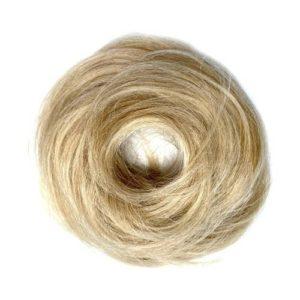 Príčesok – drdol na gumičke, Ľudské vlasy 613/24 California blond